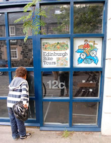 Our shop at 12C Timberbush, Leith, Edinburgh